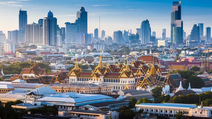 Bangkok bei Sonnenaufgang