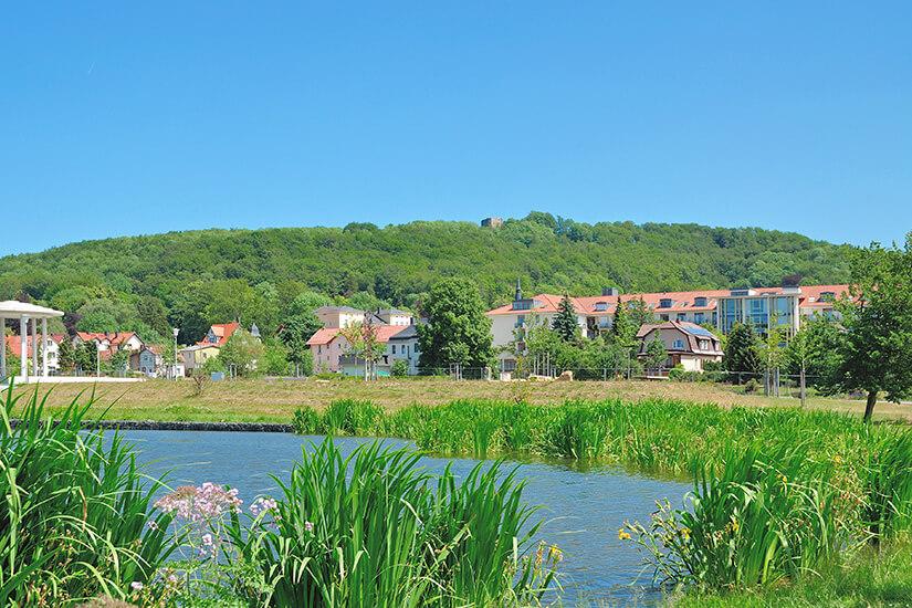 Blick auf den Kurort Bad Liebenstein