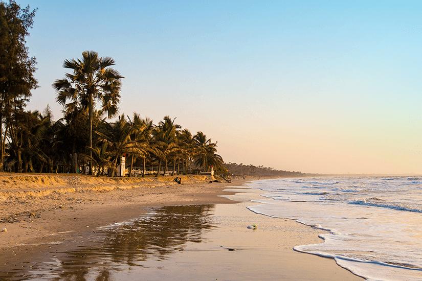 Sonnteruntergang an der westafrikanischen Küste