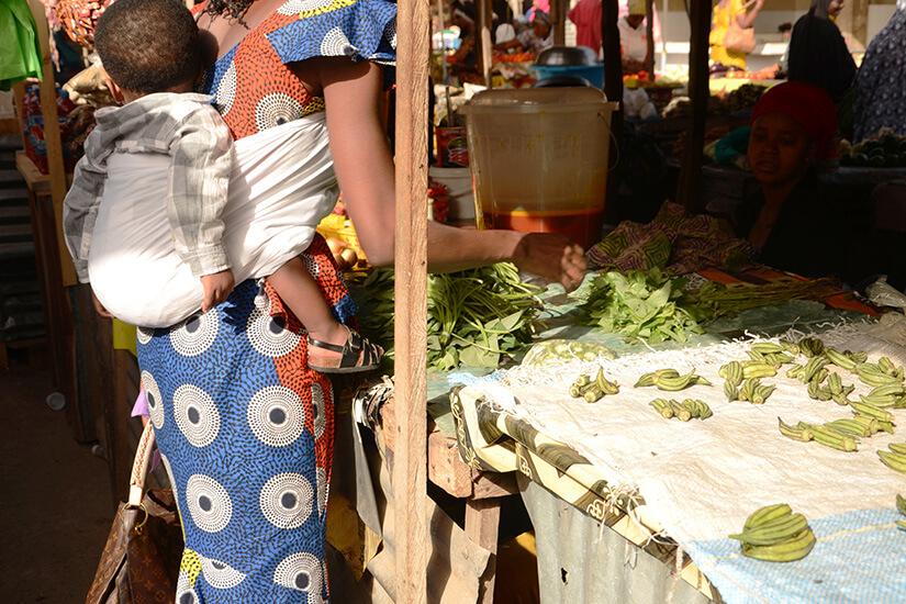 Traditioneller Markt in Gambia