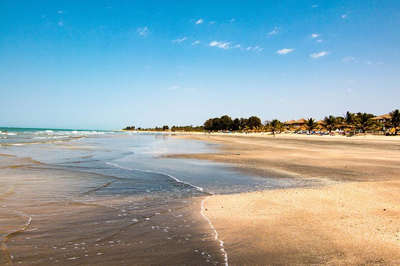 Strand in Gambia, Westafrika