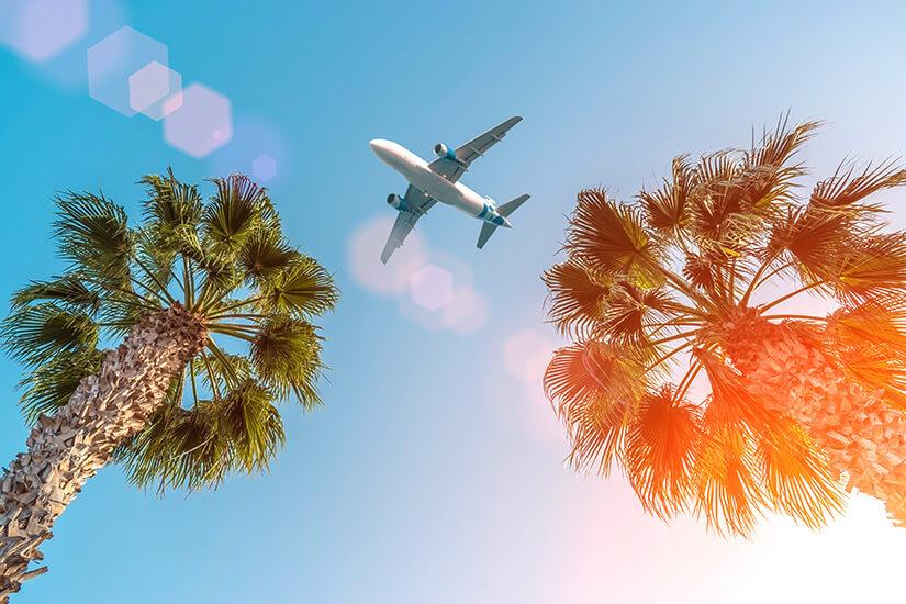 Mit dem Flugzeug anreisen