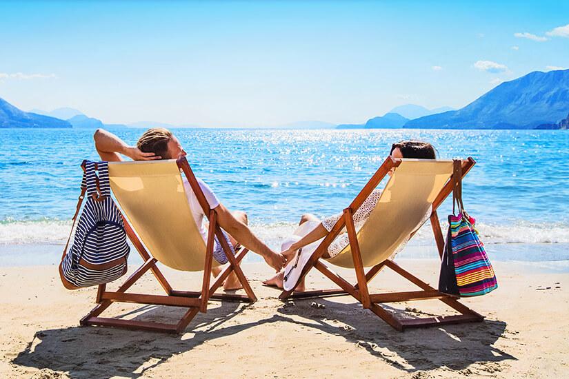 Entspannter Urlaub am Strand