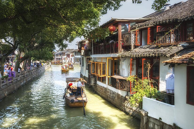 Unterwegs in der Wasserstadt Zhujiajiao