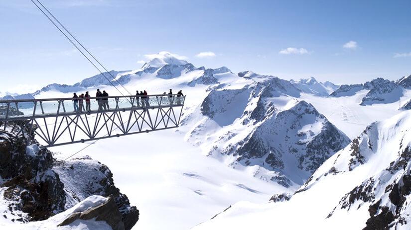 Aussichtsplattform im Skigebiet Sölden