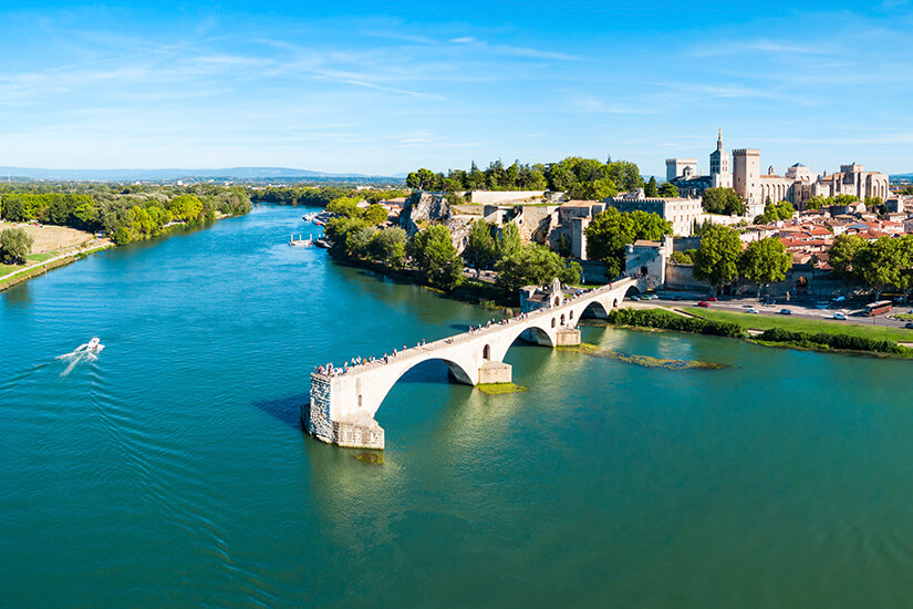Avignon und die berühmte Brücke