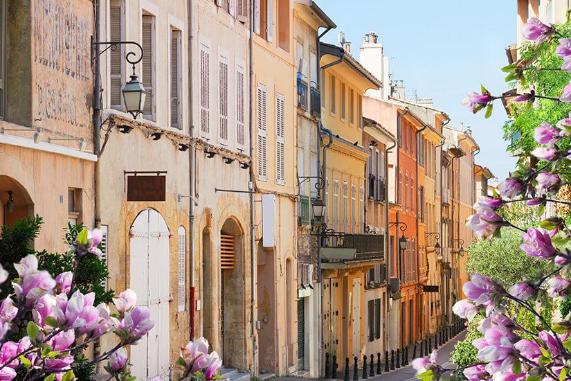 Idyllische Altstadt von Aix-en-Provence