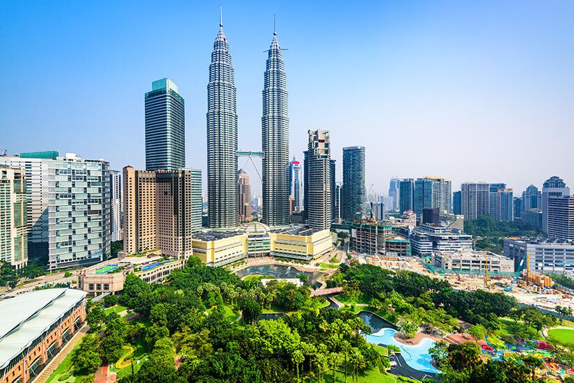 Kuala Lumpur grün und modern