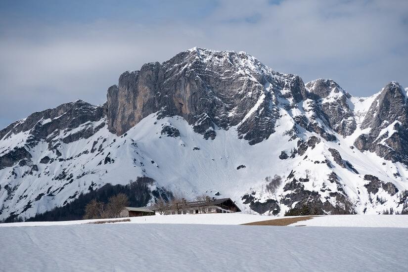 Schnee in den Berchtesgadener Alpen