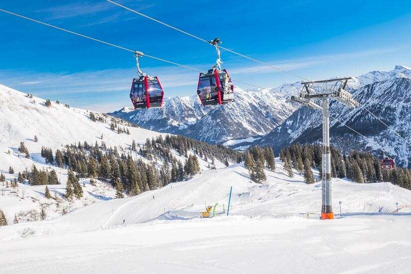 Skilift im Skigebiet Oberstdorf