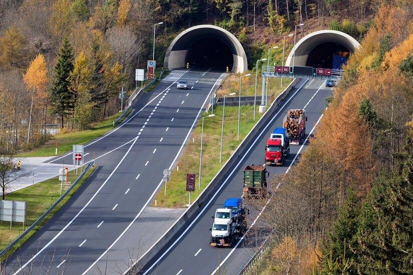 Tauern-Autobahn in Österreich