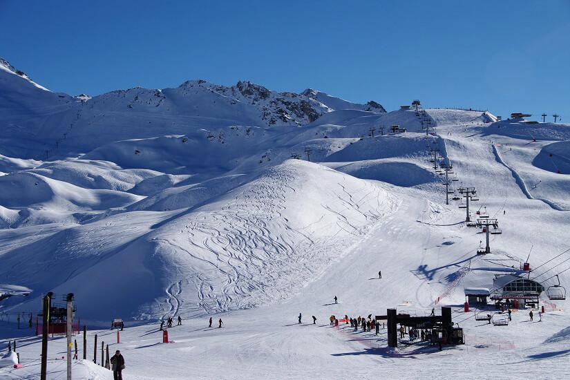Skipiste im Val d'Isère