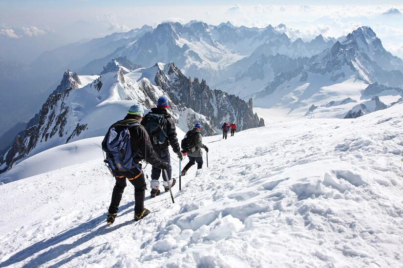 Winterwanderung am Mont Blanc
