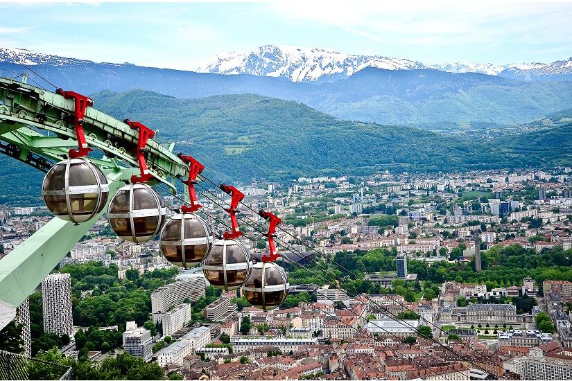 Seilbahn zur Bastille in Grenoble