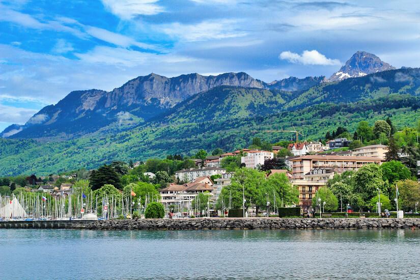 Évian-les-Bains am Genfer See