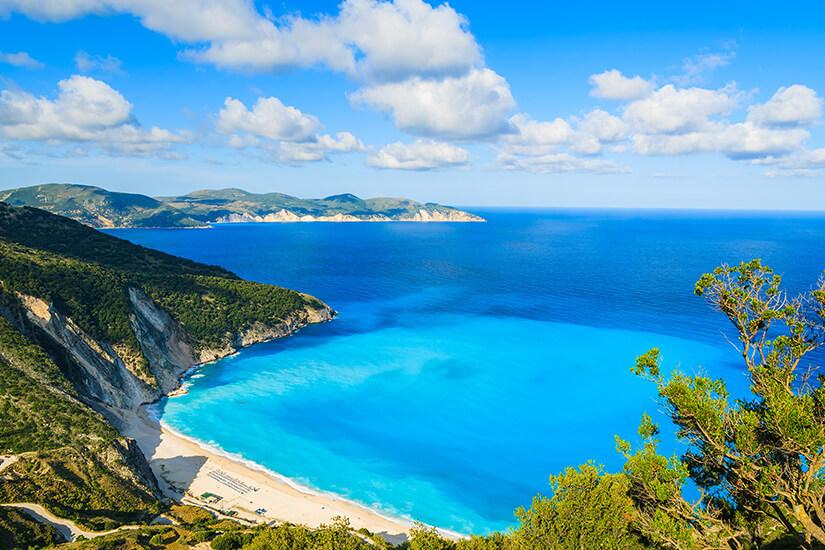 Myrtos Beach auf Kefalonia
