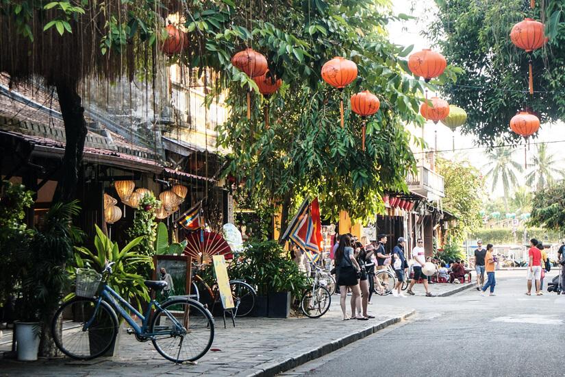 Straße in Hoi An, Vietnam