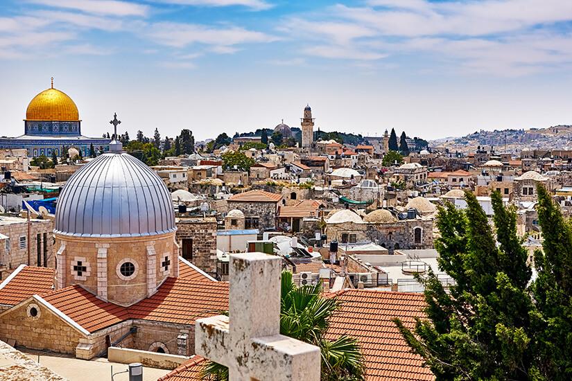 Blick über Jerusalems Altstadt