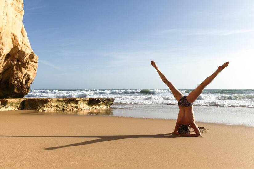 Yoga in Portugal mit Blick auf den Atlantik
