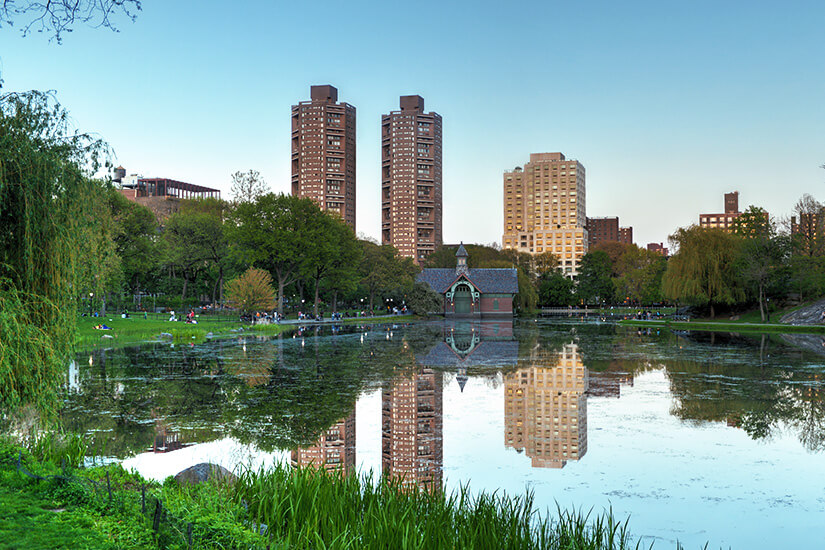 Harlem Meer erinnert an die einstige Sumpflandschaft