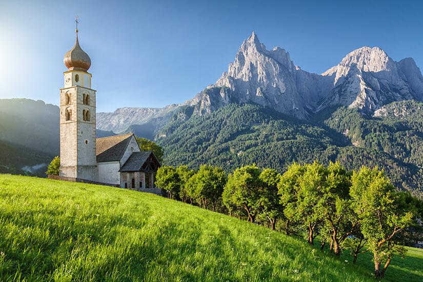Seis am Schlern - toller Blick auf die Dolomiten