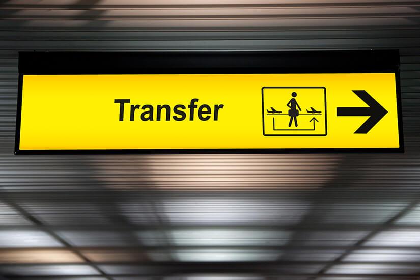Transitübergang zwischen Flügen