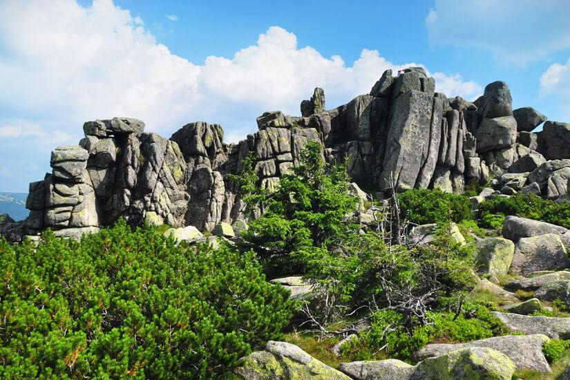 Felsformationen im Riesengebirge