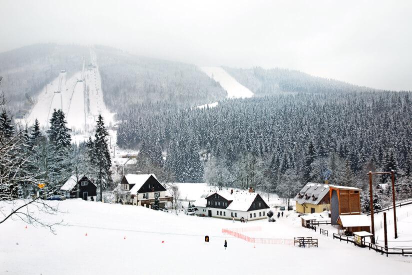 Skisprungschanzen in Harrachov
