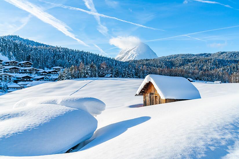 Alpen bei Seefeld im Tiefschnee