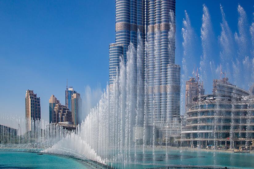 Die eindrucksvolle Dubai Fountain