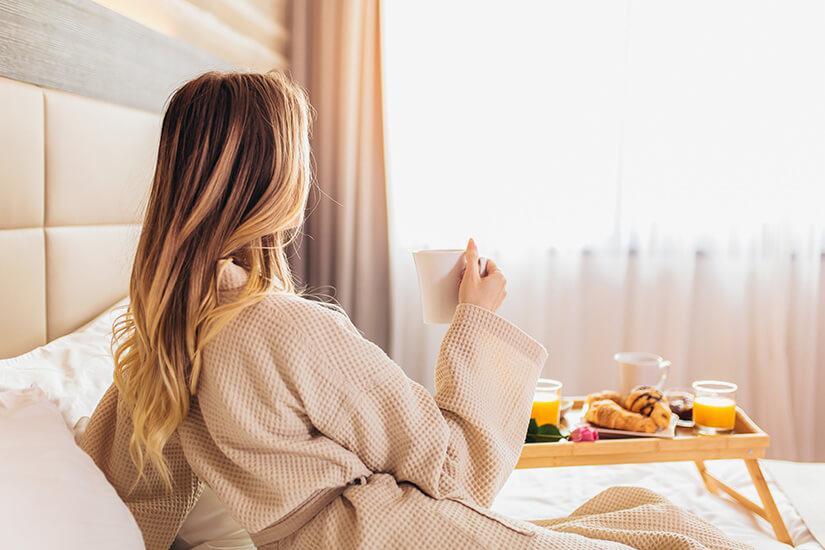 Frühstück dank Roomservice