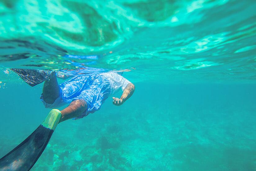 Schnorcheln im Riff vor Punta Cana