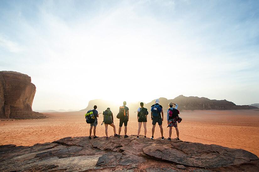 Unterwegs im Nationalpark Wadi Rum