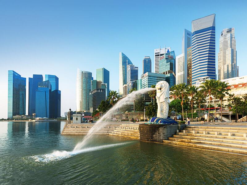 Der Merlion in Singapur