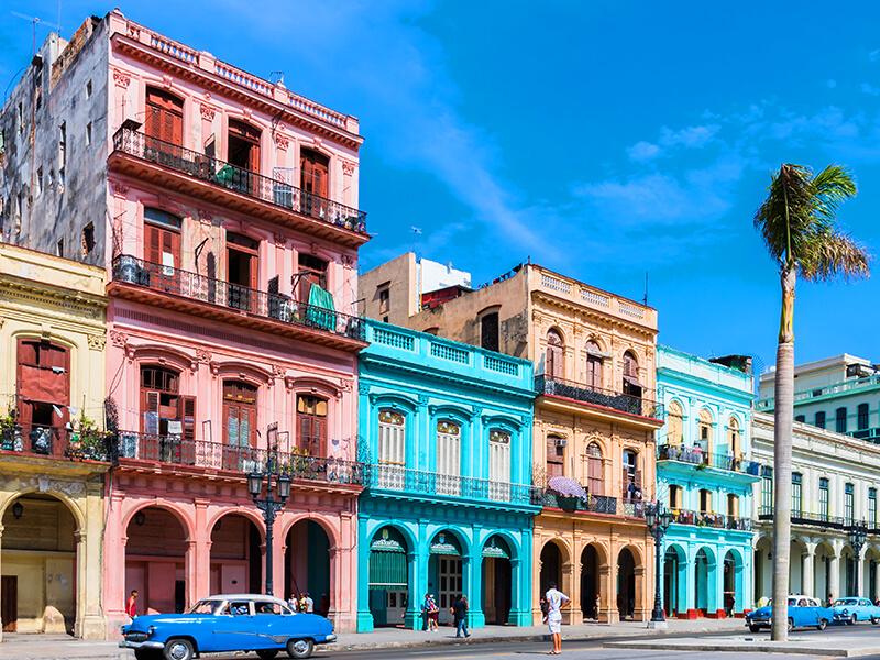 Die Calle Paseo de Marti in Havanna