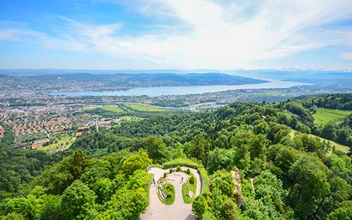Uetliberg Blick auf Stadt, See & Alpen
