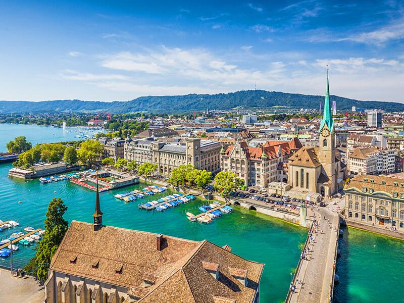Panoramablick auf Zürich