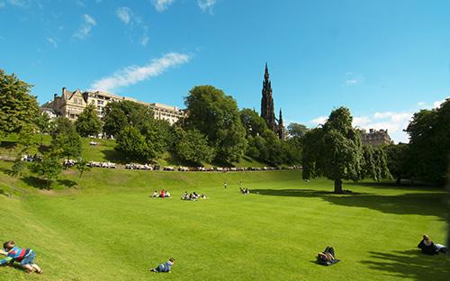 Princes Street Gardens Grünes Paradies