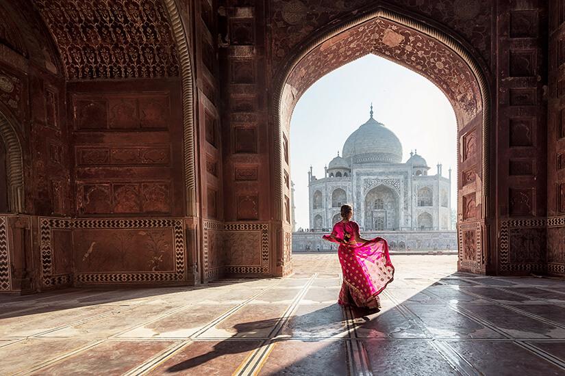 Kunstvolle Innengestaltung im Taj Mahal