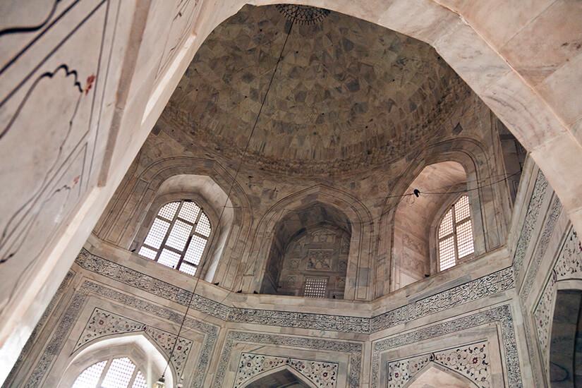 Deckenkunst im Taj Mahal