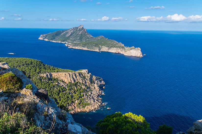 Blick auf die Insel Sa Dragonera