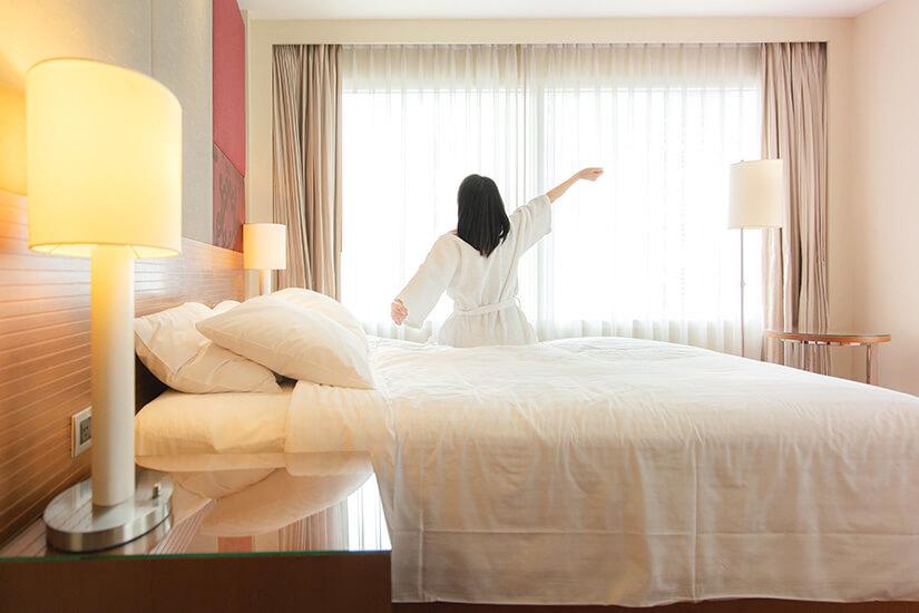 Aufwachen im Doppelbett