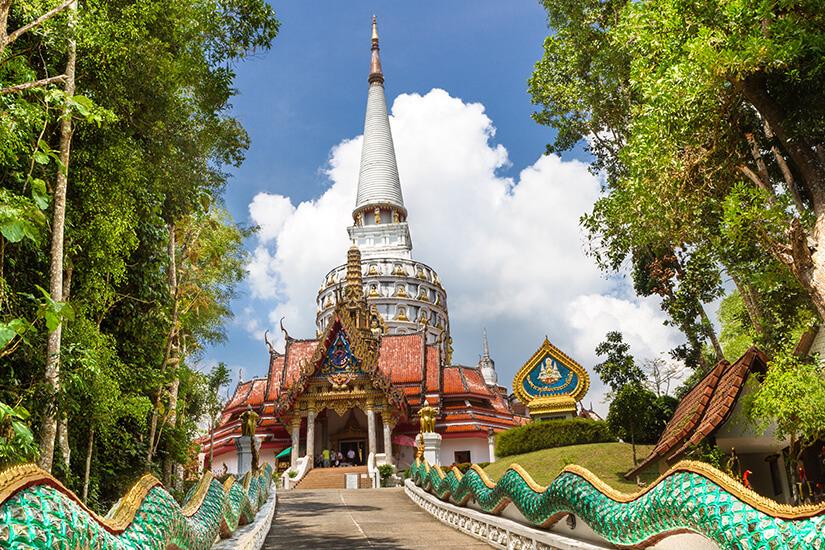 Temple Wat Bang Riang in Phang Nga