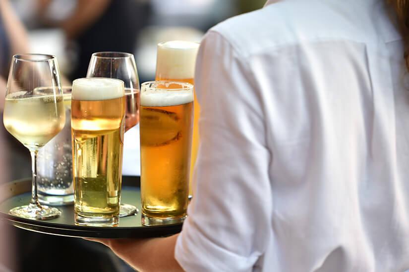 Getränke sind in der Vollpension meist nicht inbegriffen