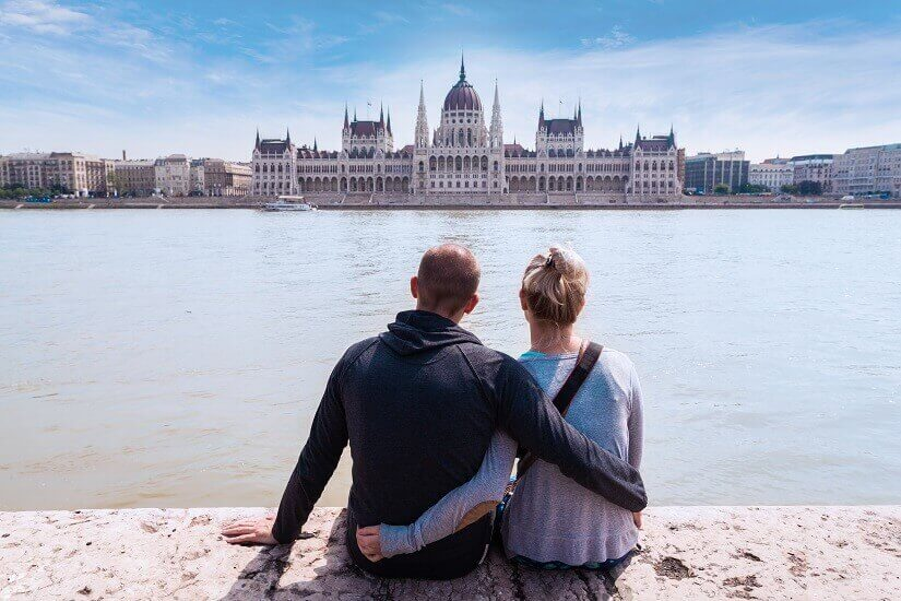 Blick aufs Parlament in Budapest