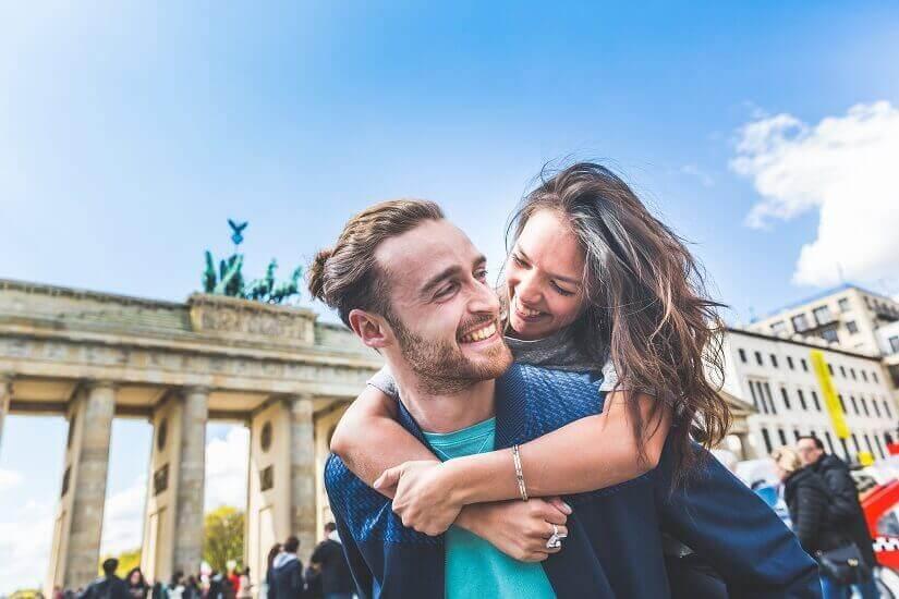 Zu zweit am Brandenburger Tor