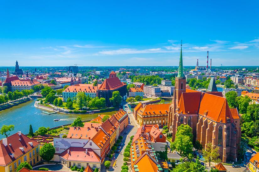 Das historische Breslau aus der Vogelperspektive