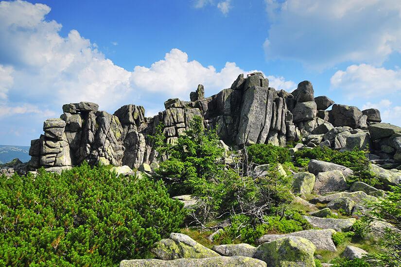 Felsformationen im polnischen Riesengebirge