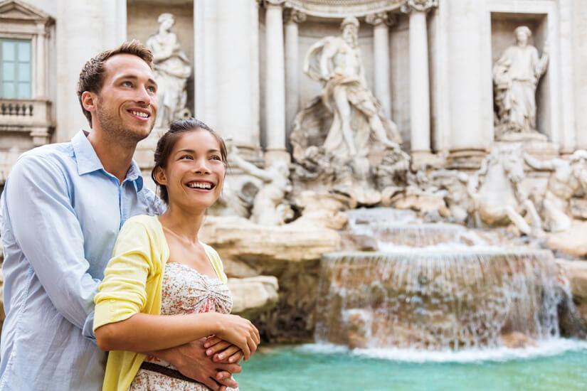 Zusammen die Sehenswürdigkeiten Roms bestaunen