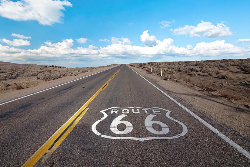 Die Route 66 verbindet Osten und Westen der USA